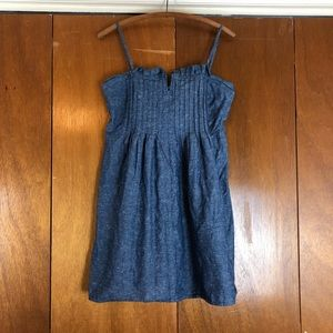 Madewell Chambray Sleeveless Dress